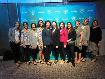 A delegation of 11 Cincinnati woman attended the JDC's Imagine More conference; from left are,  Michelle Kohn, Sara Behrman, Susan Brenner, Fran Coleman, Danielle V. Minson, Marcie Bachrach, Patti Heldman, Alison Caller, Hayley Englander, Jennifer Zelkind, and  Louise Wolf.