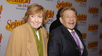 Courtesy of JTA; Fernando Leon/Getty Images Jerry Stiller and wife Anne Meara at the Rainbow Room in Rockefeller Center in New York City, Nov. 17, 2004.
