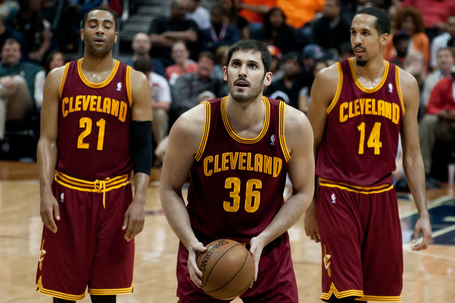 Photo by Mark Runyon, BasketballSchedule.net Omri Casspi plays for the Cleveland Cavaliers against Atlanta in April 2013.
