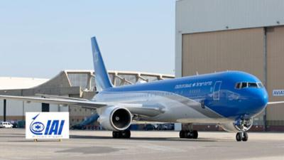 """Courtesy of JTA Photo credit:Israel Aerospace Industries.  Israel's version of """"Air Force One,"""" a customized Boeing 767 jet."""