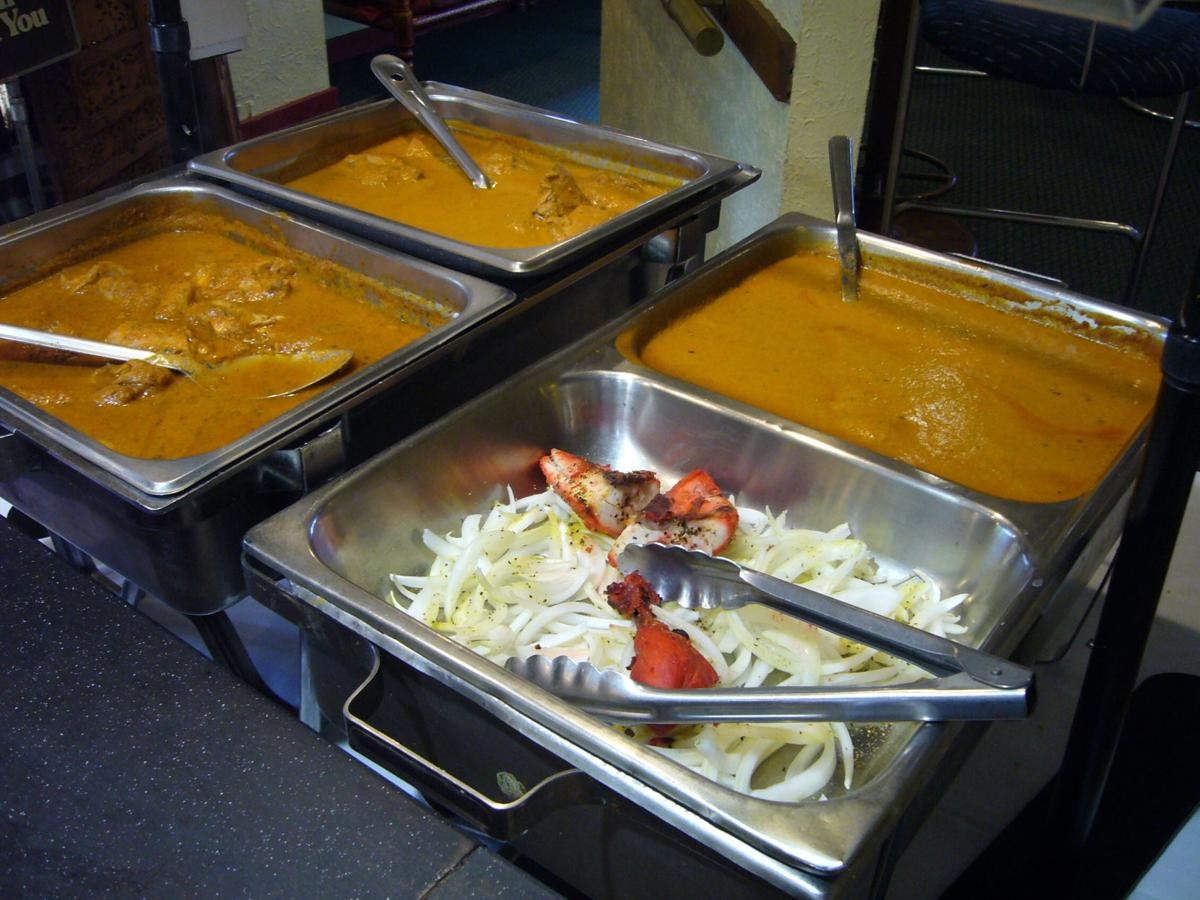 The lunch buffet at Tandoor Cuisine of india always has a nice selection of fresh food.
