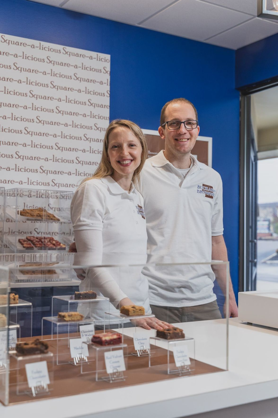 Miriam Spitz and Tommer Kahan, owners of Buckabee Brownies, started the business from their home kitchen.