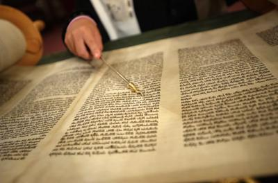 Courtesy of Konstantin Goldenberg/Shutterstock via JTA It is a tradition to study Jewish texts all night on Shavuot, which marks the Jews' receiving of the Torah.