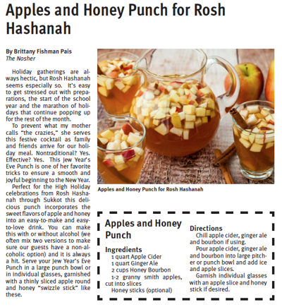 Apples and Honey Punch for Rosh Hashanah
