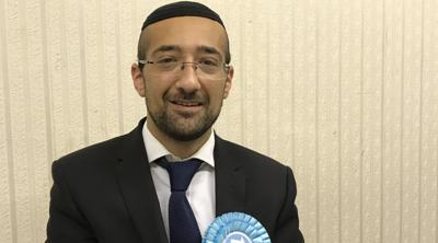 """Courtesy of JTA Yosef David says his Brexit Party is a """"safe and friendly place"""" for Jews despite racism allegations."""