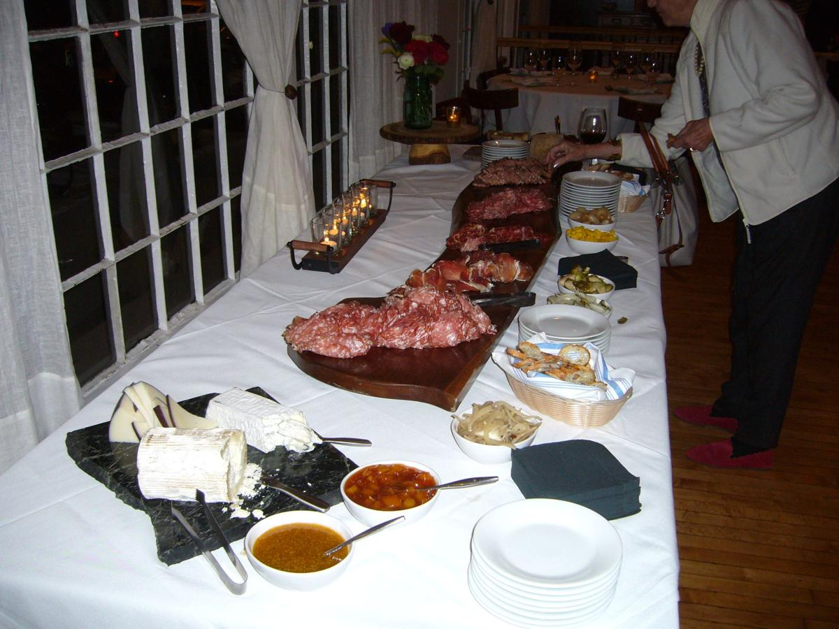 Postmark's charcuterie table featured at a recent event.