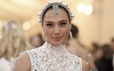 """Courtesy of JNS; Photo by Evan Agostini/Invision/AP  Gal Gadot attends The Metropolitan Museum of Art's Costume Institute benefit gala celebrating the opening of the """"Camp: Notes on Fashion"""" exhibition on Monday, May 6, 2019, in New York."""