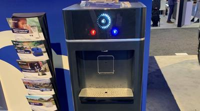 Courtesy of JTA Genny, made by the Israeli company Watergen, is a home water generator capable of producing up to 7.9 gallons of drinking water per day by collecting water vapor in the air and putting it through physical, chemical and biological treatment.