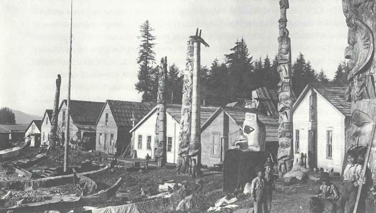 Totem Poles in Haida Village of Howkan, Alaska c.1897 (Alaska State Library).jpg