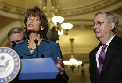 Senators McConnell, Murkowski and Hoeven hold news conference after vote on amendments on the Keystone XL pipeline bill in Washington