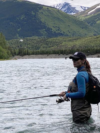 Robin fishing