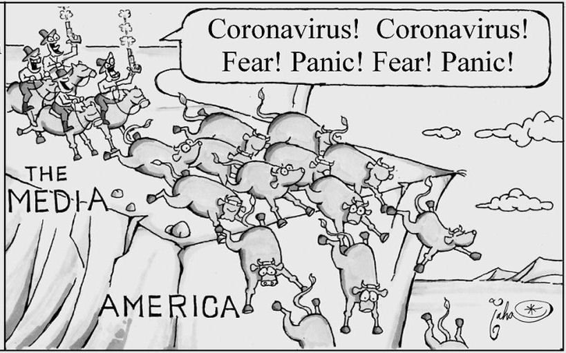 Image result for covid fear mongering cartoons
