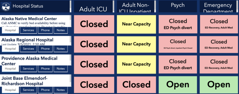 Alaska ICU beds