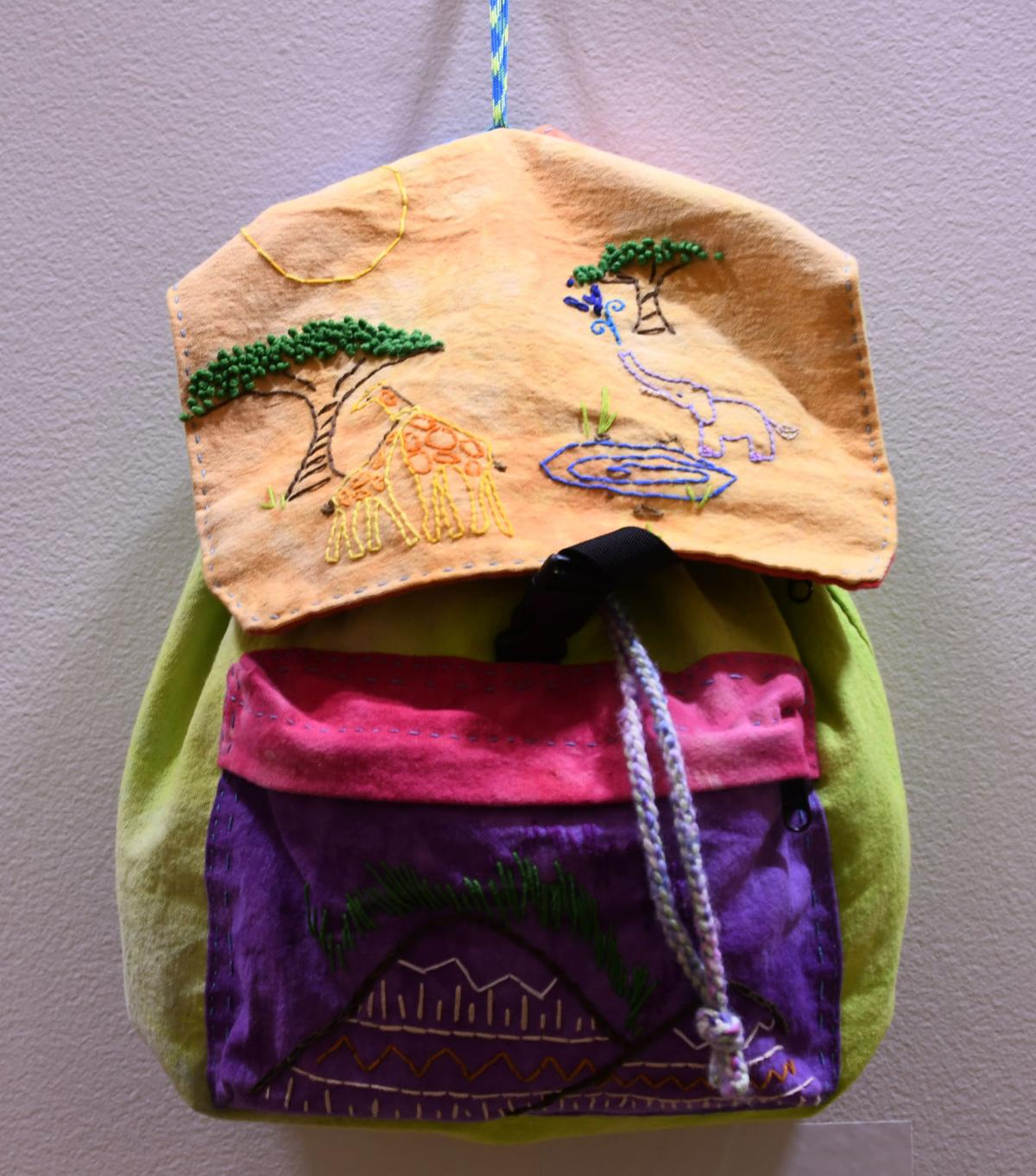 Lippy, Embroidered Backpack.jpg