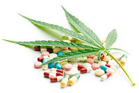 cannabis leaf and medicaments