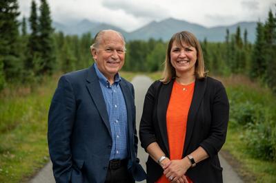 Bill Walker and Heidi Drygas