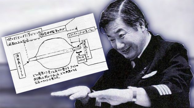 pilot with his drawing of smaller ufos.jpg