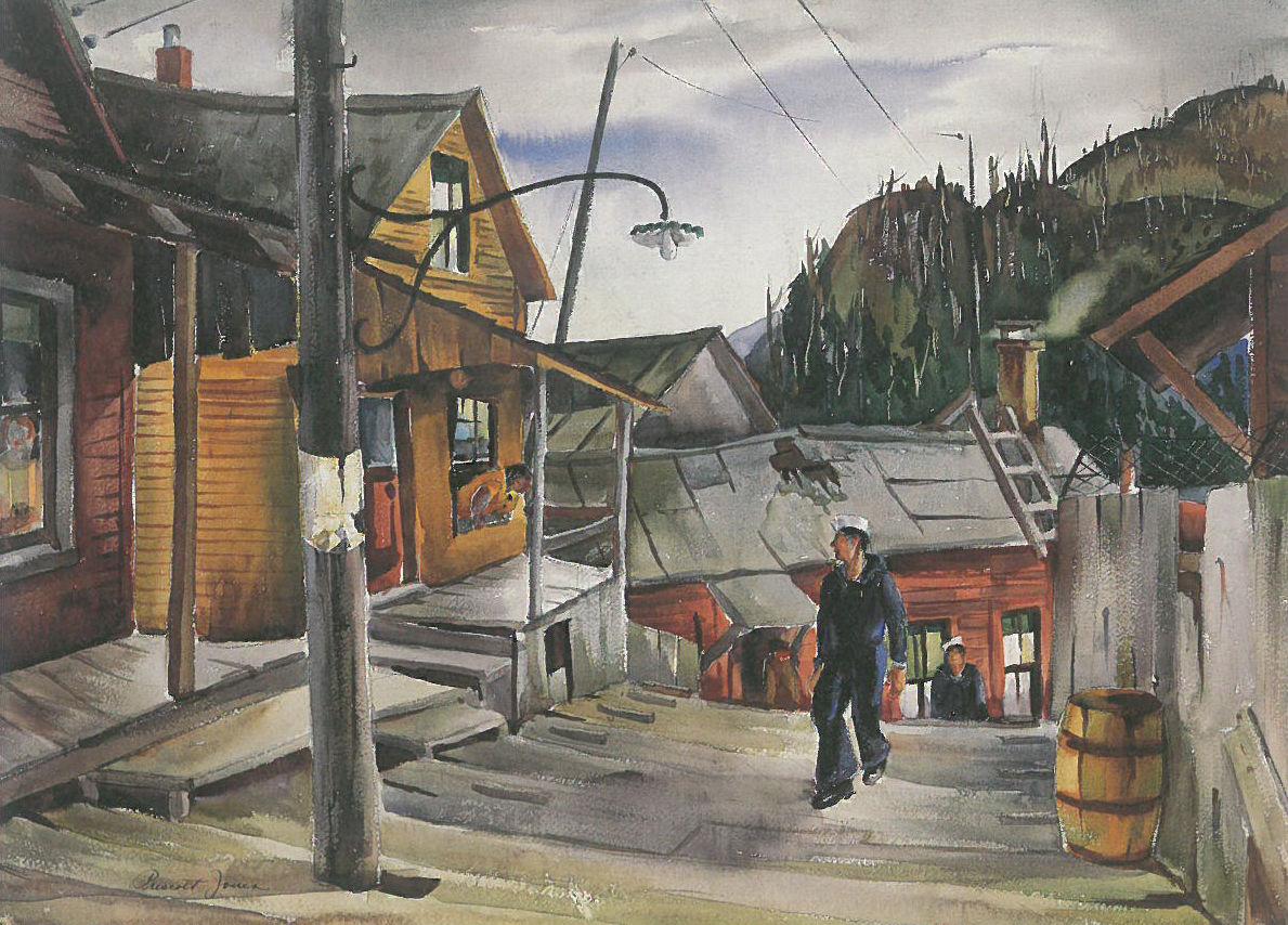 Street in Ketchikan by Jones