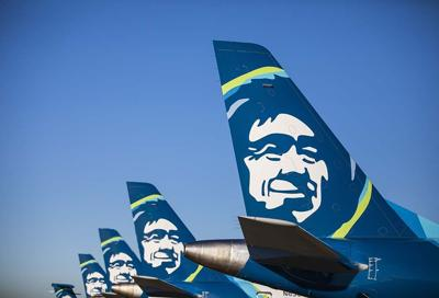 Alaska Airlines Planes Aircraft lined up