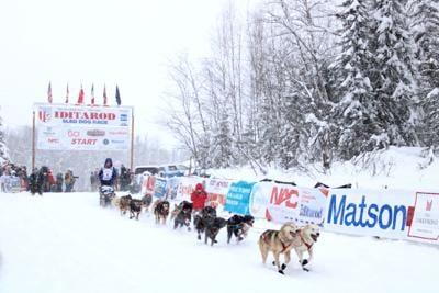 Iditarod finish