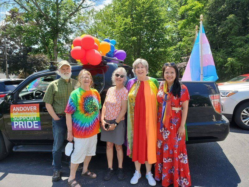 Parade-goers march with Pride