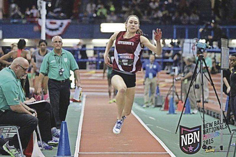All-American Girl; Gray sets area triple jump record at nationals