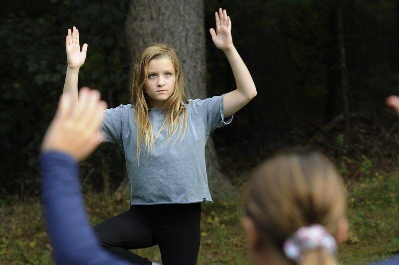 Namaste: Children enjoy yoga