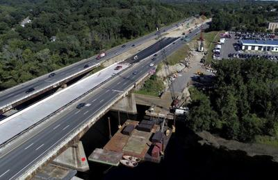 I-495 traffic over river is rerouted