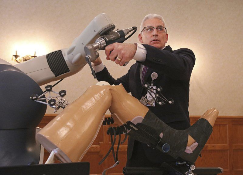 Learning about space-age knee surgery