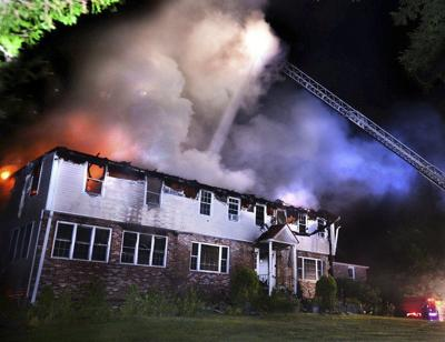 Fire rips through home