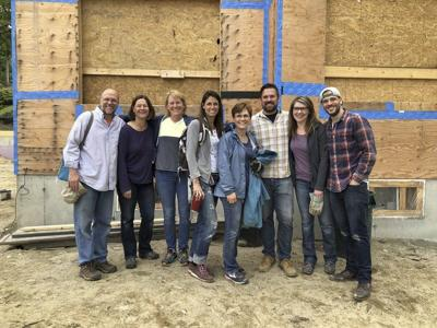 Local clergy help to build a home in Andover