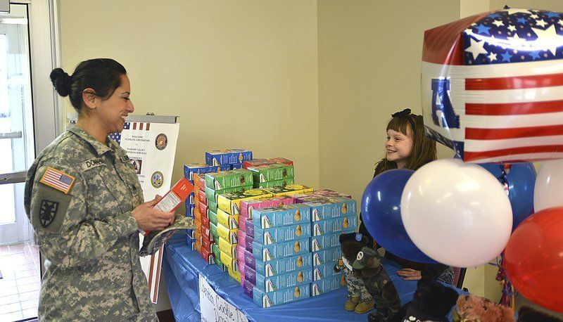 Girl Scout gave sweet surprise to veterans