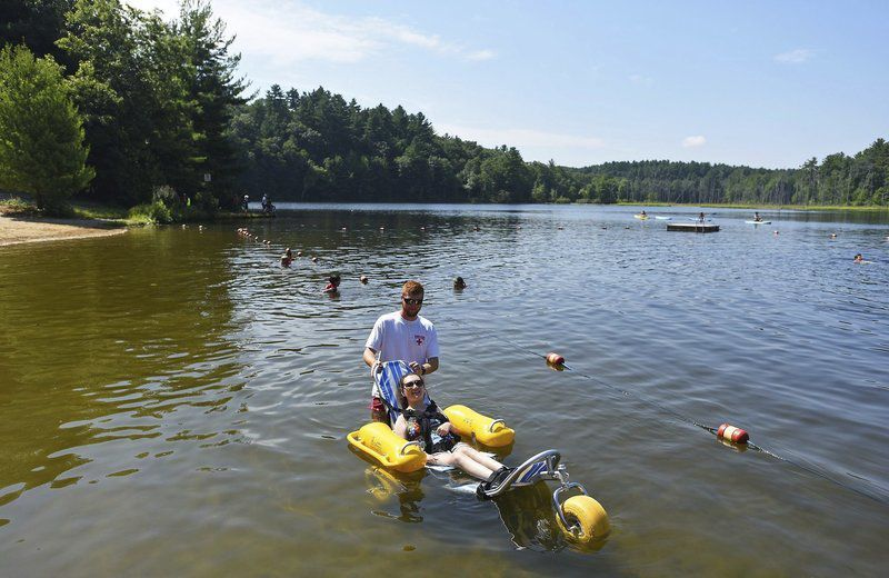 Pomps Pond gets floating wheelchair