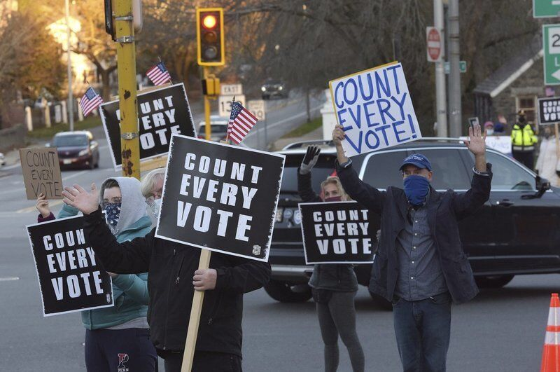 Prior to Biden win, a call for votes to count