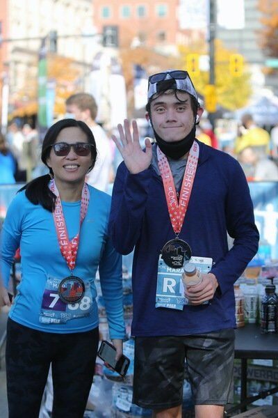 Andover mother-son duo turn shared passion into half marathon gold