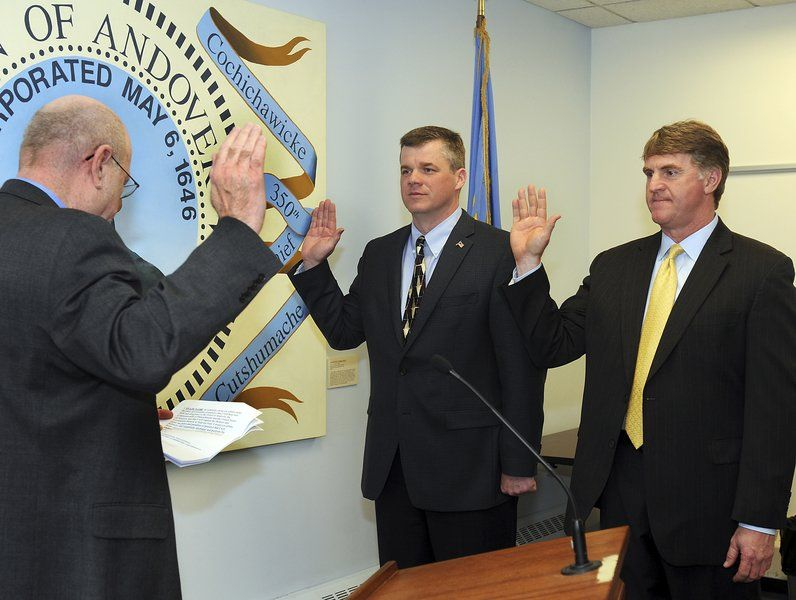 Making it official; Town clerk swears in new, returning elected leaders