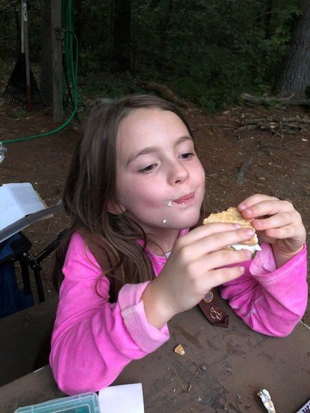 girl scouts in andover celebrate national s mores day