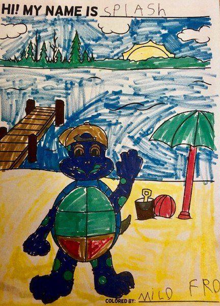 Rec Department introduces new mascot 'Splash' the turtle