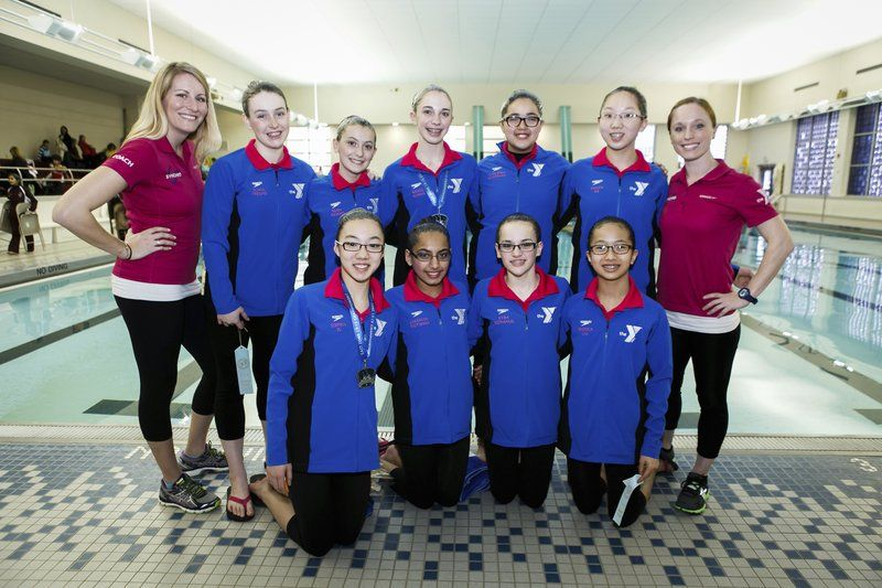 Andover Synchronized Swimming teams compete in New York meet