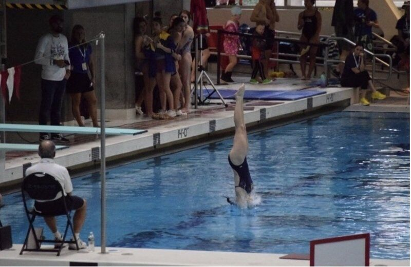 Pitts uses gymnastics background to help her star as diver for Andover High