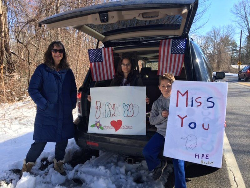 Andover teachers use car parade to reach out to students