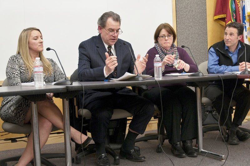 Lively exchange; School candidates share views on education