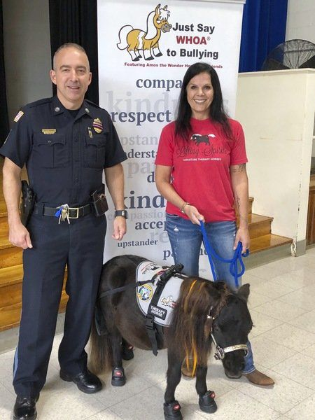 Whoa! Mini horse helps anti-bullying talks in Andover schools