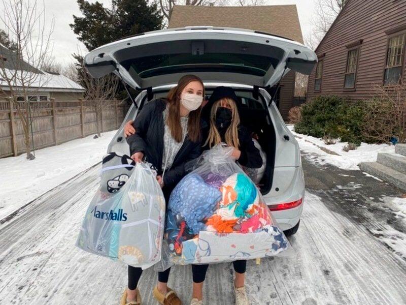 Local teens help 'blanket' needy for storm