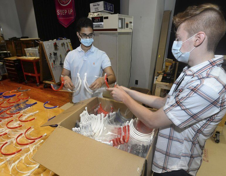Students sending 2,000 face shields to Puerto Rico
