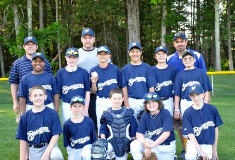 e1ef63e71 The Andover Little League Majors Division champion Brewers team included