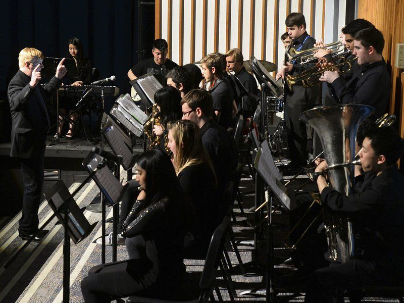 Jazz band performs original songcomposed by AHS senior