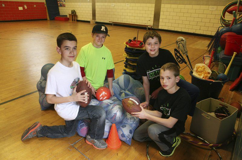 A team of HEROS; Students collect, donate used sports equipment to kids in need