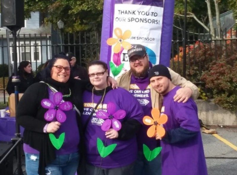 Purple reigns as Alzheimer's Walk comes to Andover