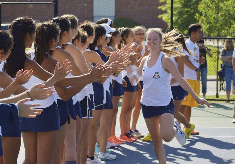 Higgins a three-year force at doubles for Andover girls tennis